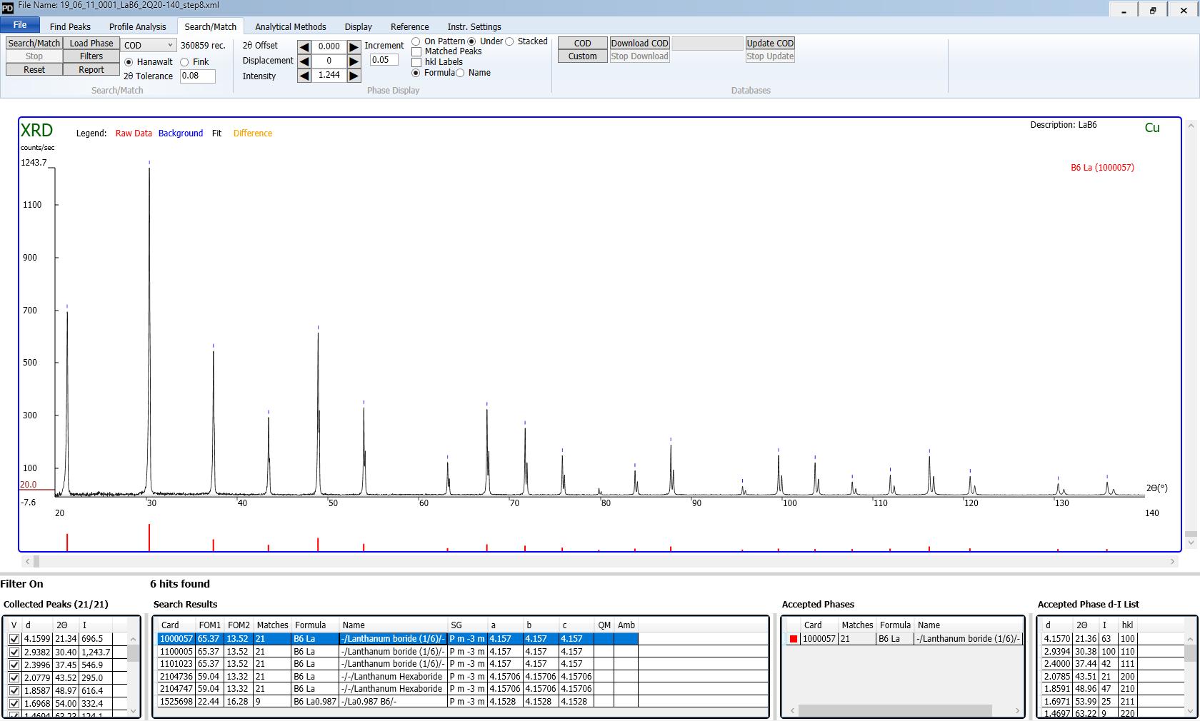 powder diffraction software