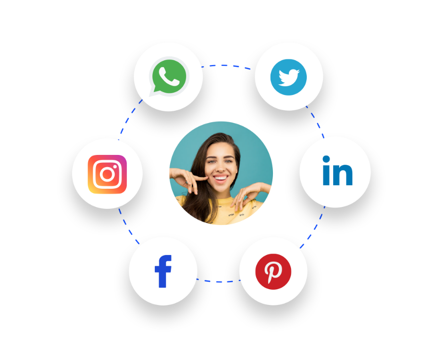 Social Media Integration auf deiner Webseite.
