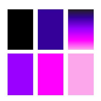 HIITZHOP logo colour palette