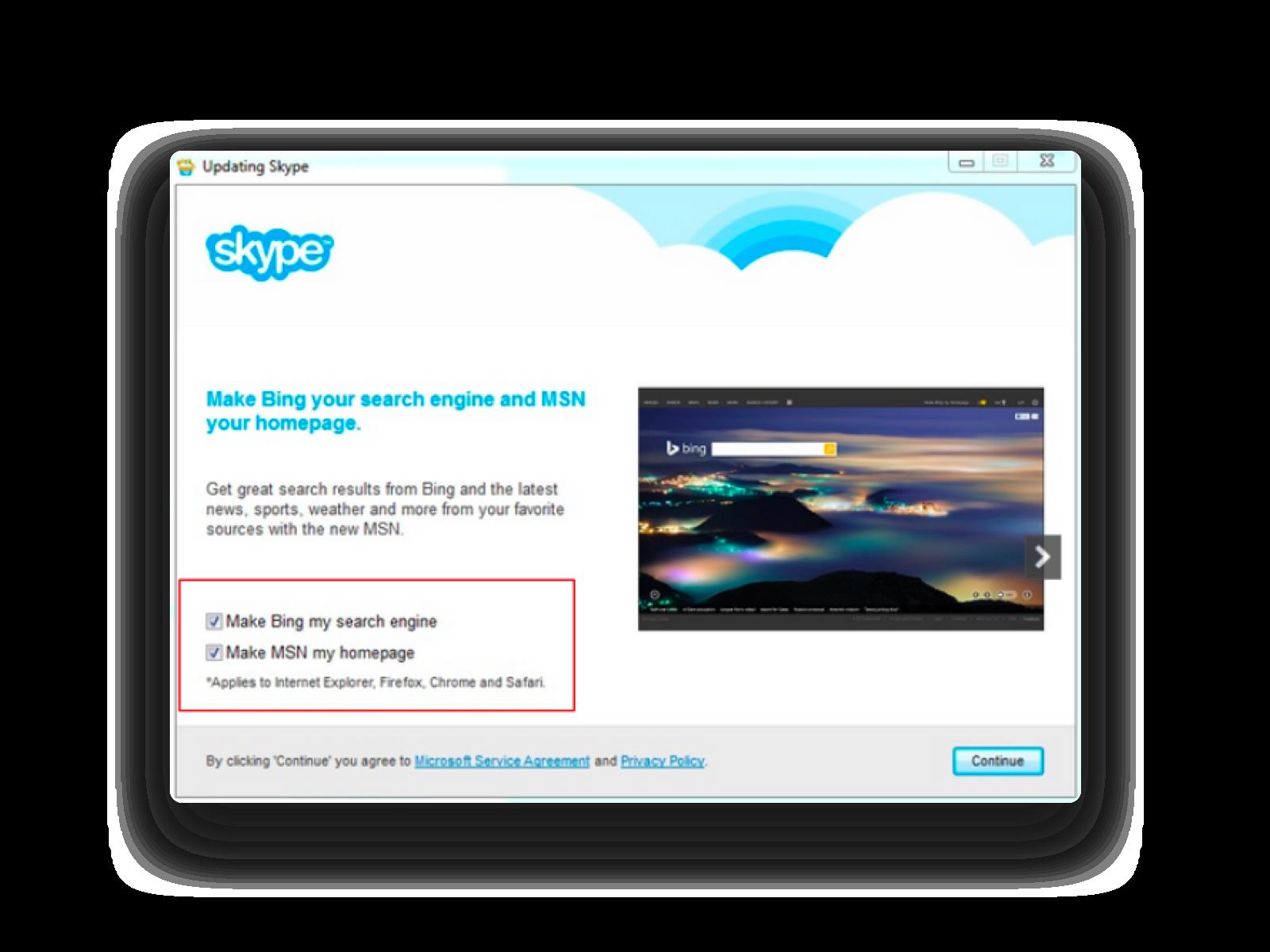 Dark Pattern on Skype