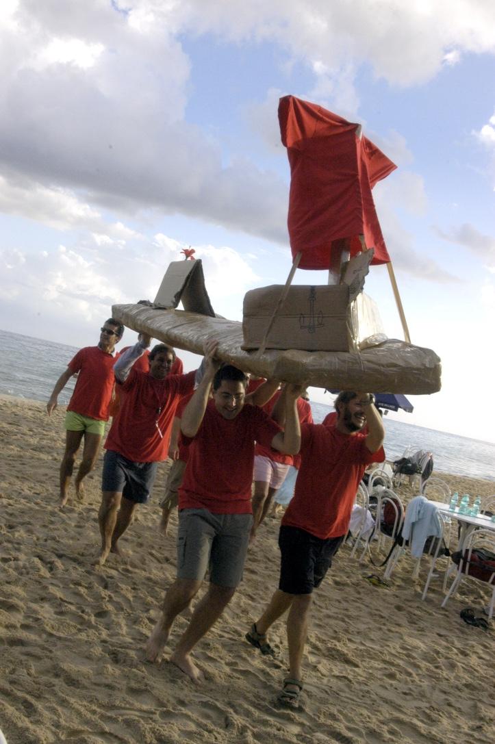 team building in spiaggia