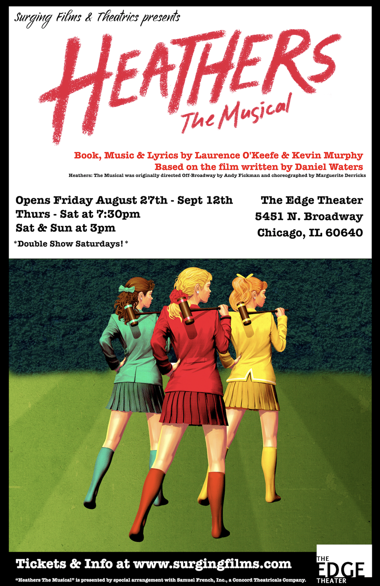 Surging Films and Theatrics Presents Heathers