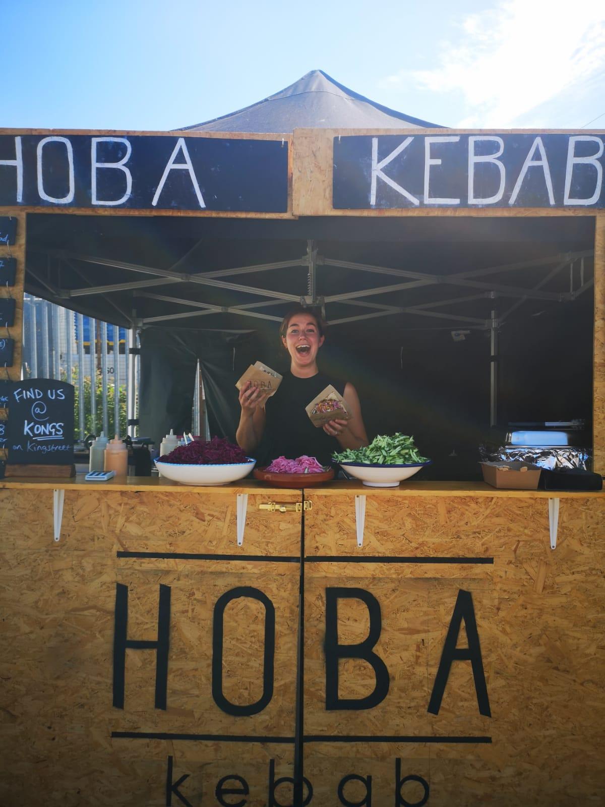Hoba kebab market stall