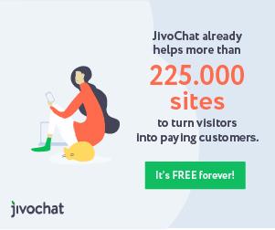 Reklamebanner for Jivochat