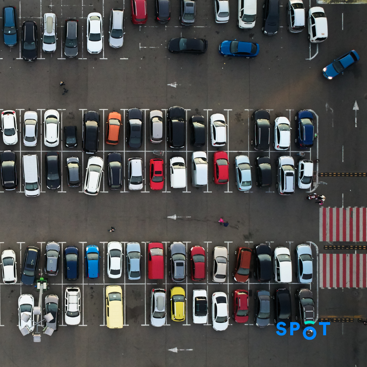 A congested parking lot, to show how the parking industry is extremely low tech