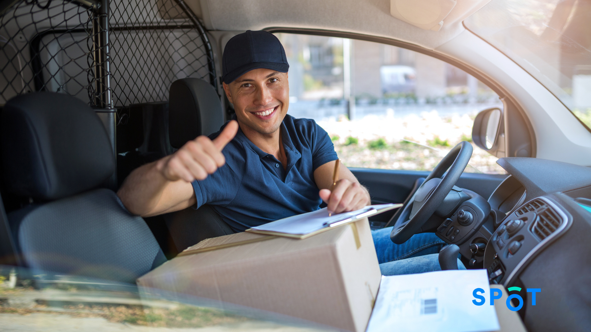 An e-commerce delivery driver mastering the last mile