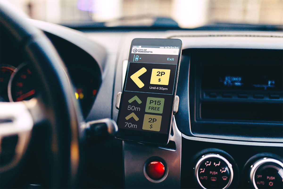 spot cities spot drive mode on phone in car cradle