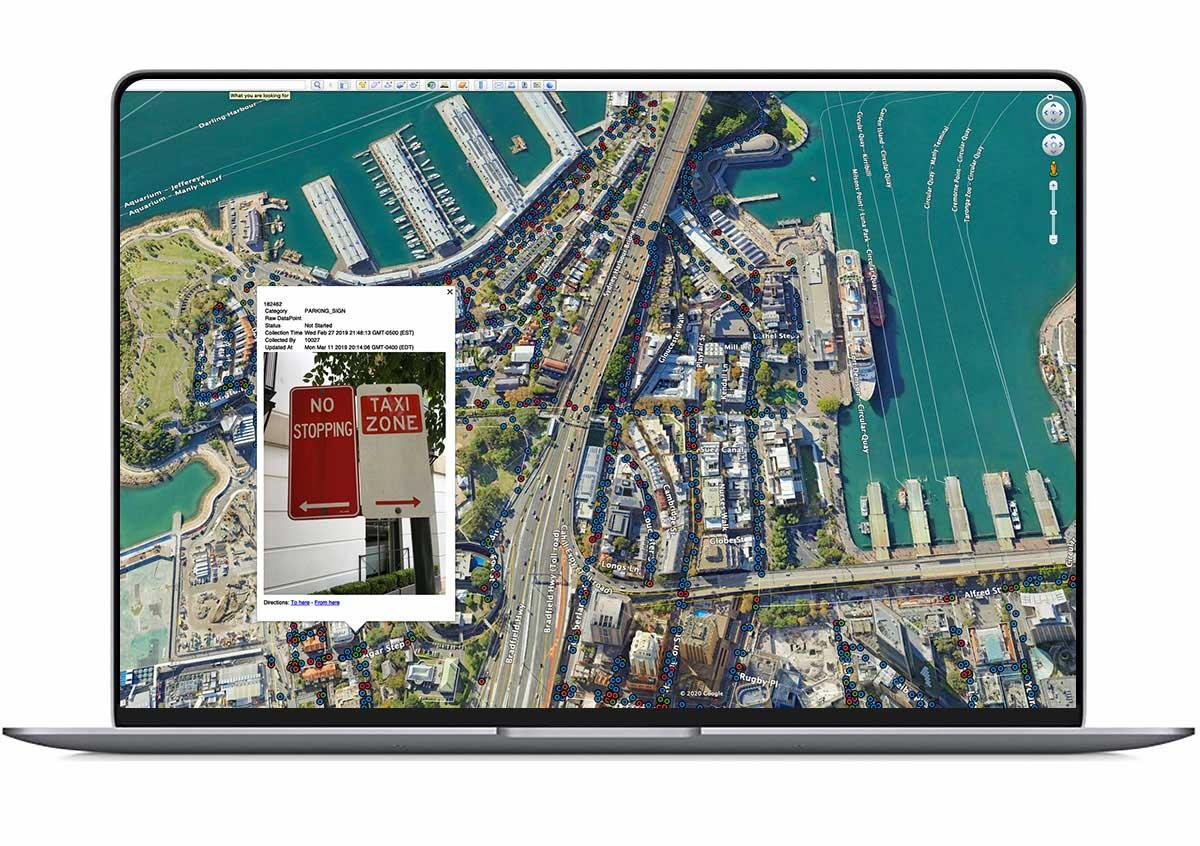 Spot Cities web interface on laptop