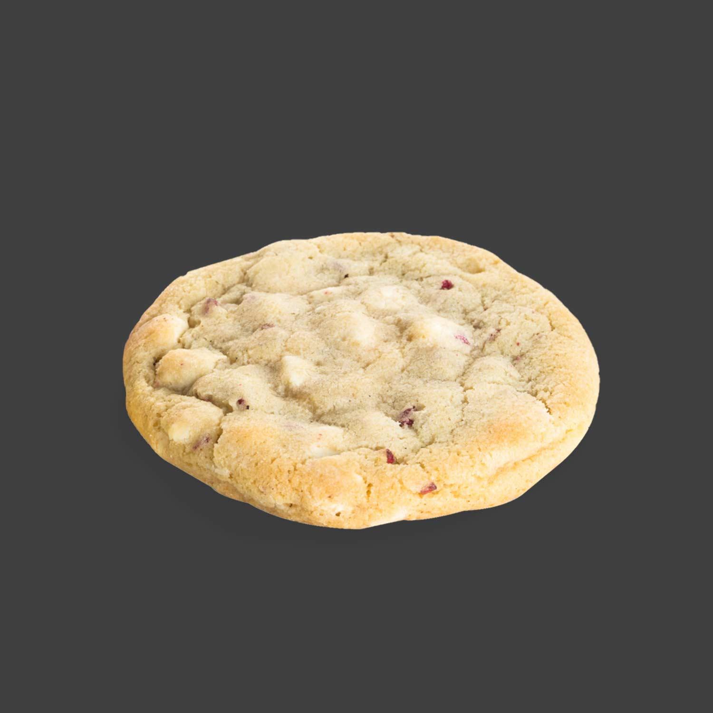 White Chocolate & Raspberry cookie