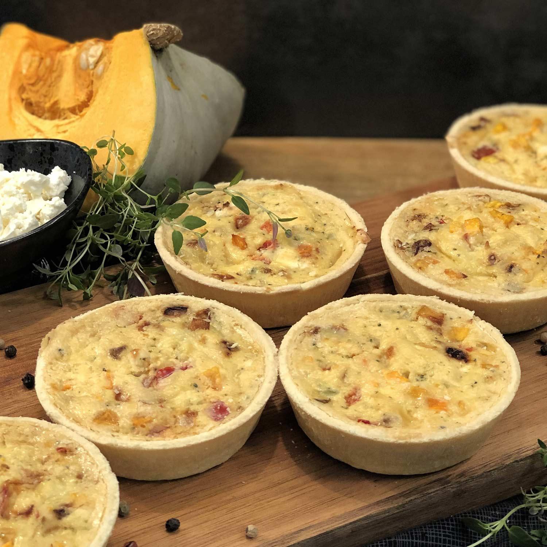 Pumpkin, Feta & Vege Quiche