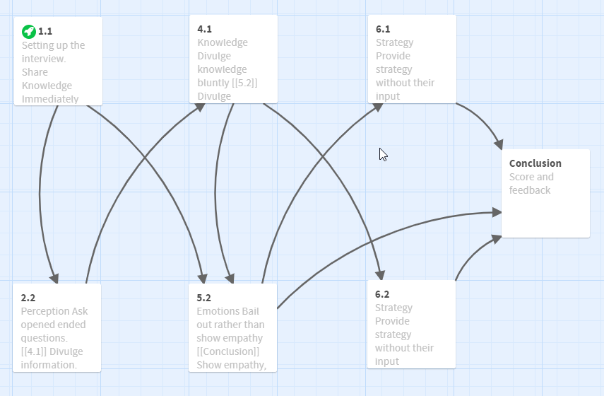 Twine app for tracking branching scenario choices