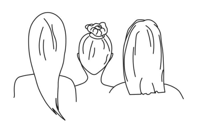 Tri prijateljice, oziroma »amie« kot pravijo Francozi.
