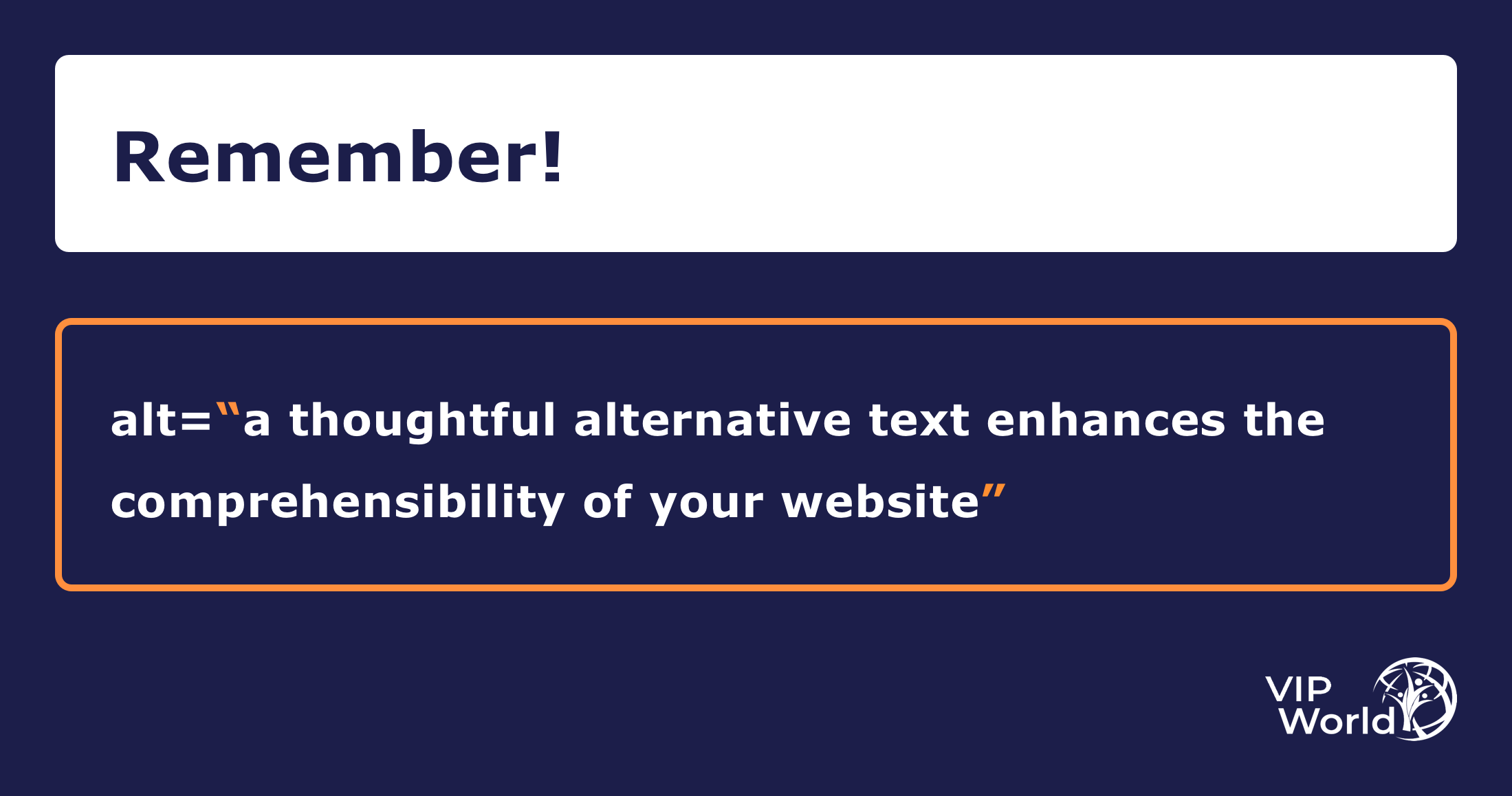 Quote: a thoughtful alternative text enhances the comprehensibility of your website