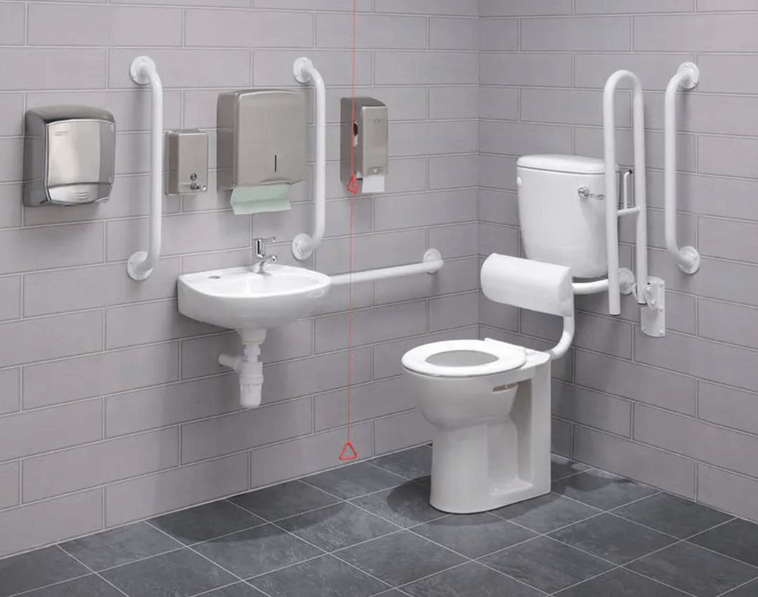 example of toilet which is not enough accessible
