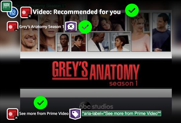The screenshot displays advertisement of Grey's Anatomy series