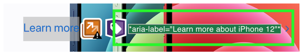 The screenshot displays information about ara-label
