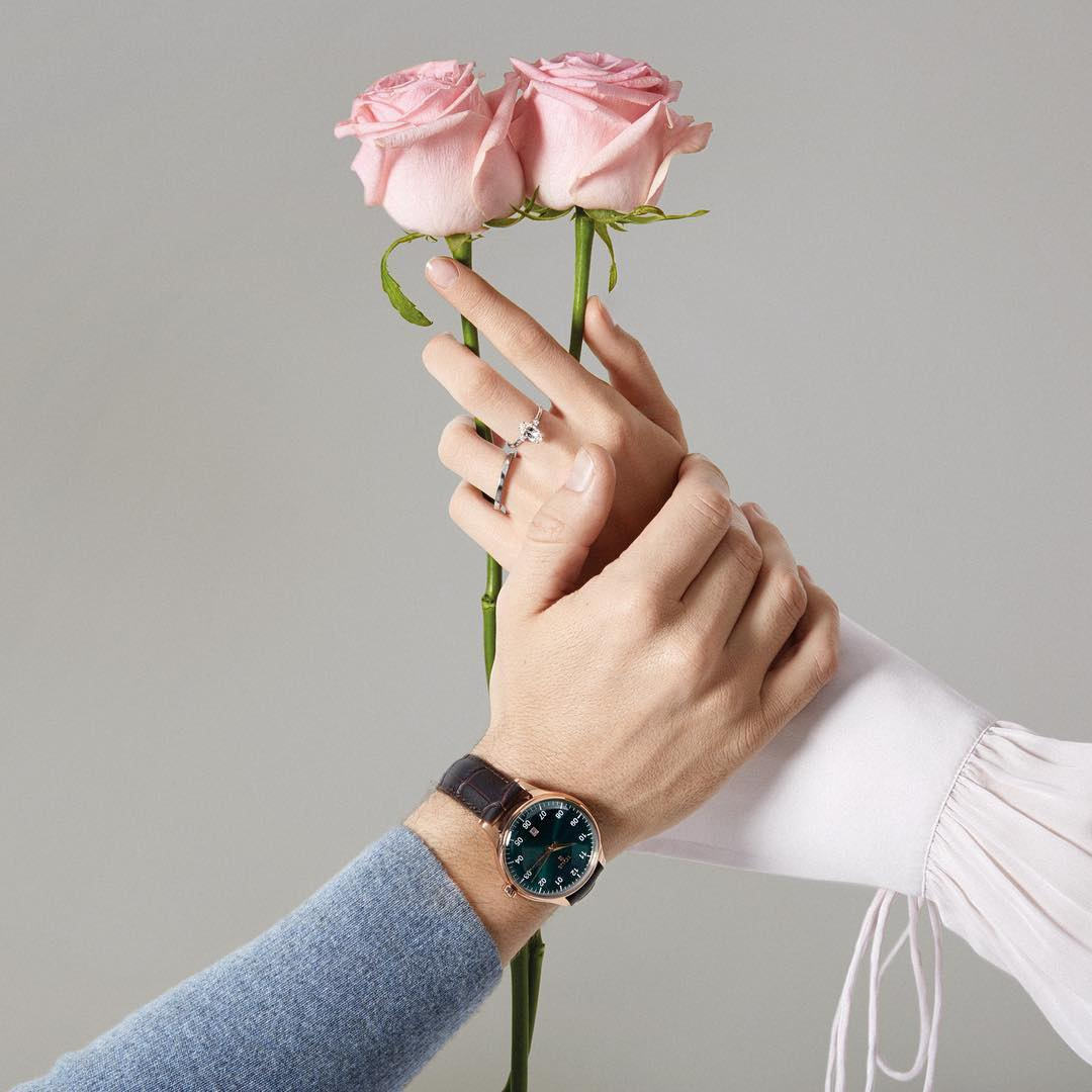 watch design Tous watch worn on a wrist with flowers