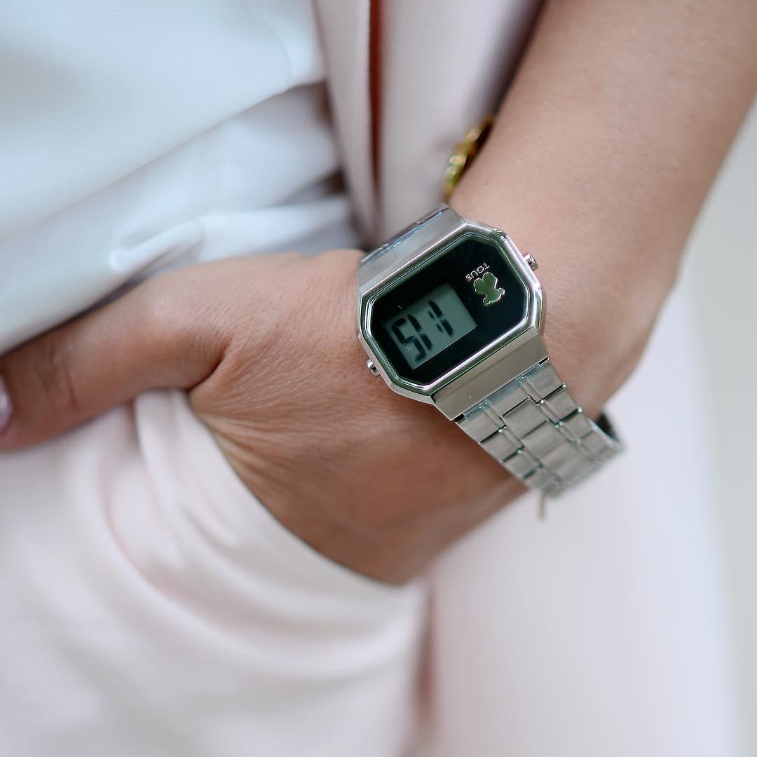watch design digital tous watch on wrist