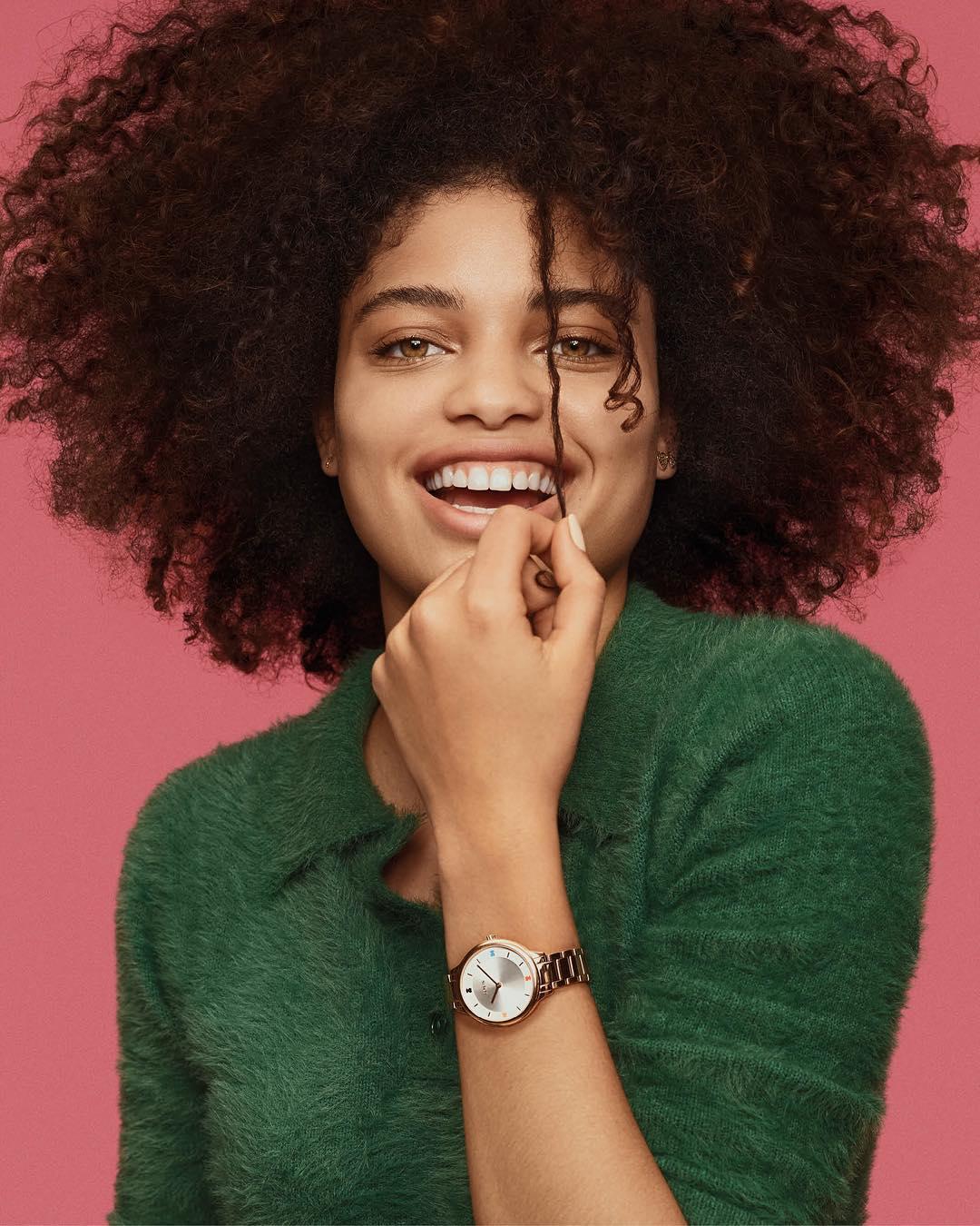watch design Tous watch worn on a lady wrist