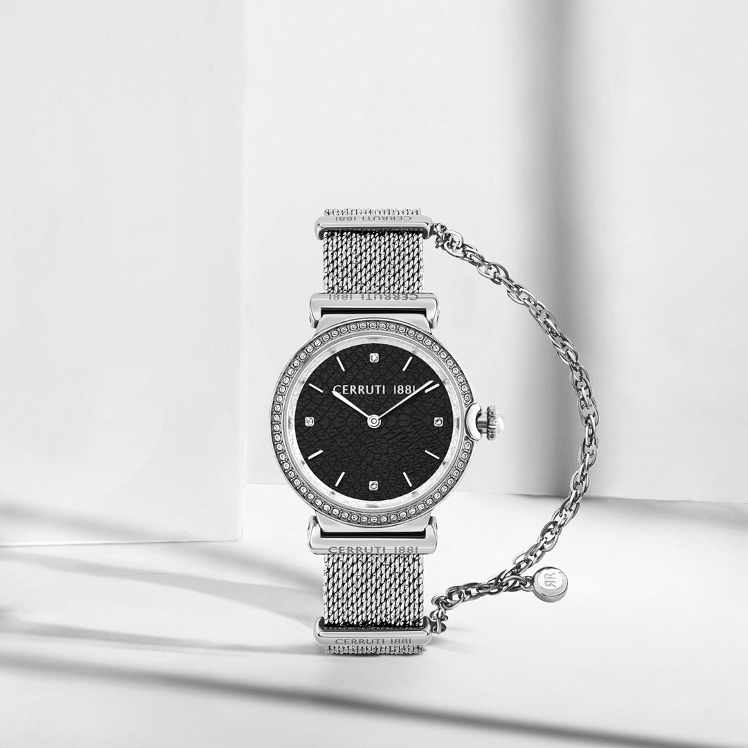rodolphedesign montre cerruti 1881 avec bracelet milanais et chaîne