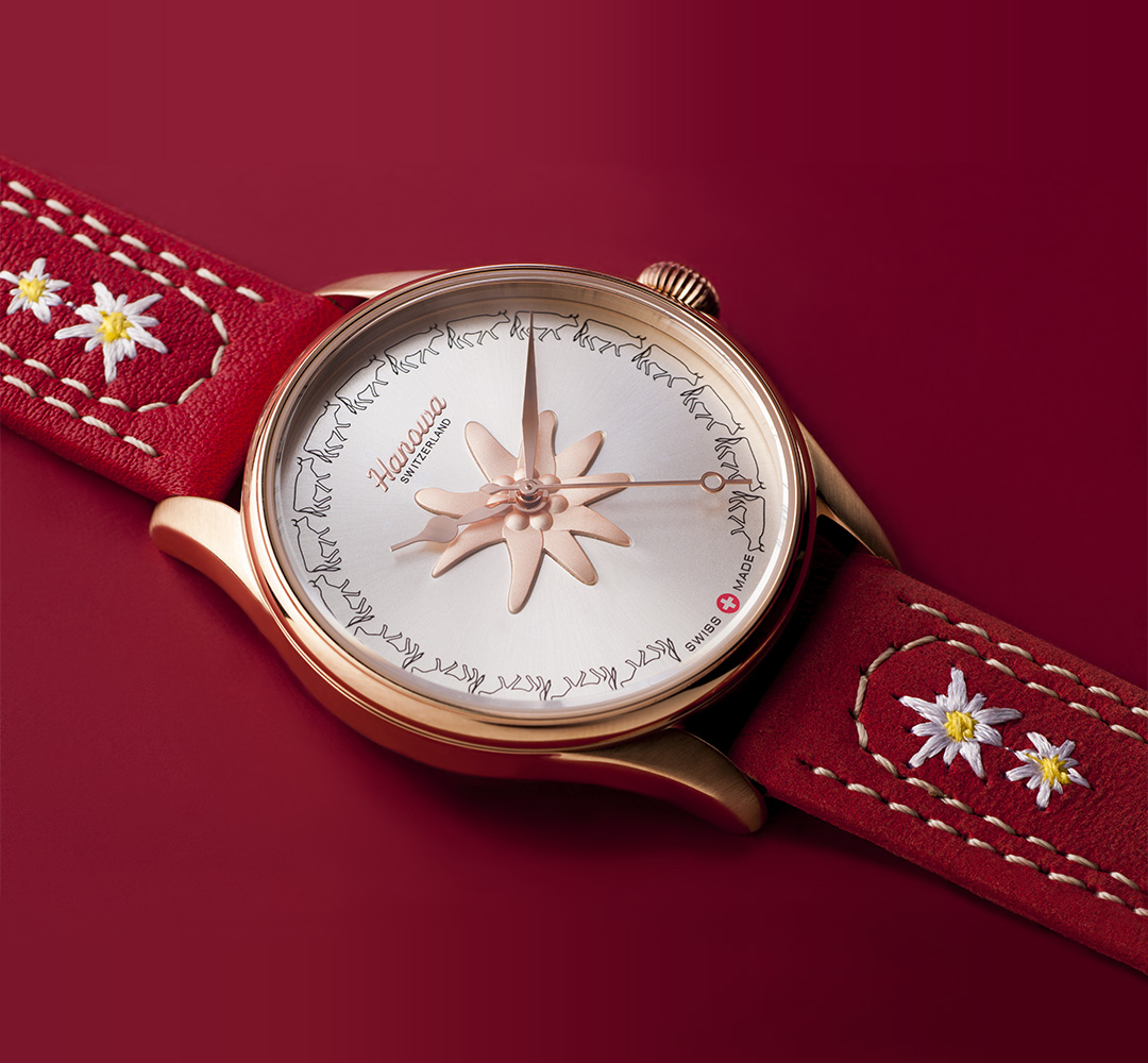 Rodolphedesign montre Hanowa swiss made style avec edelweiss