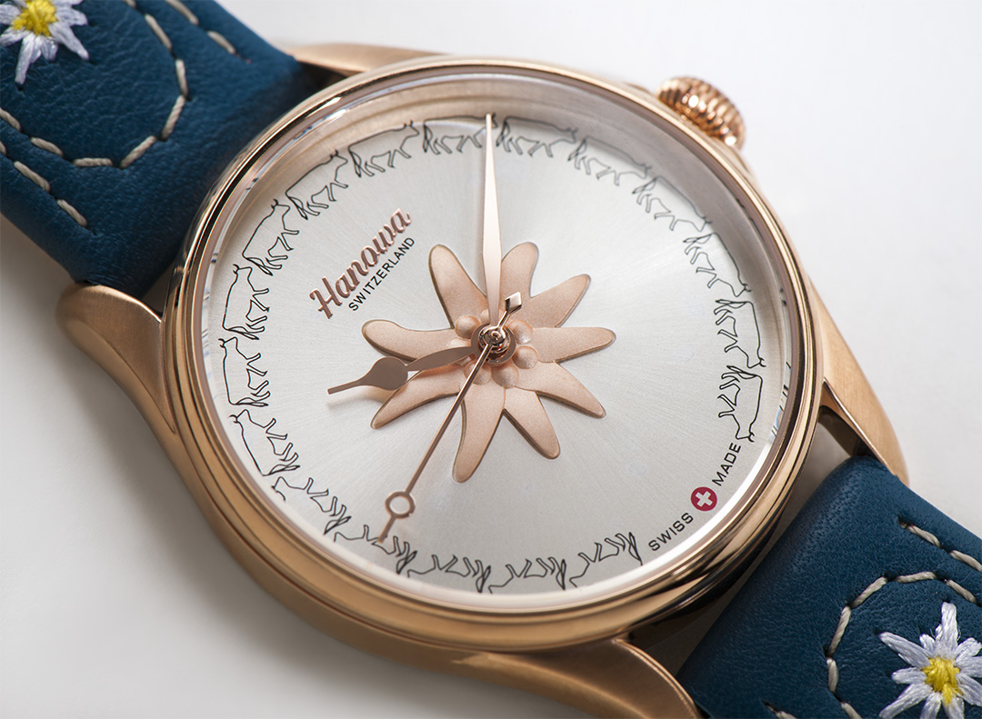 Rodolphedesign montre Hanowa swiss made edelweiss