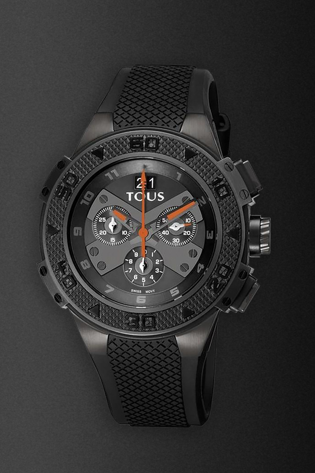 watch design Front view of the X-Tous chronograph watch