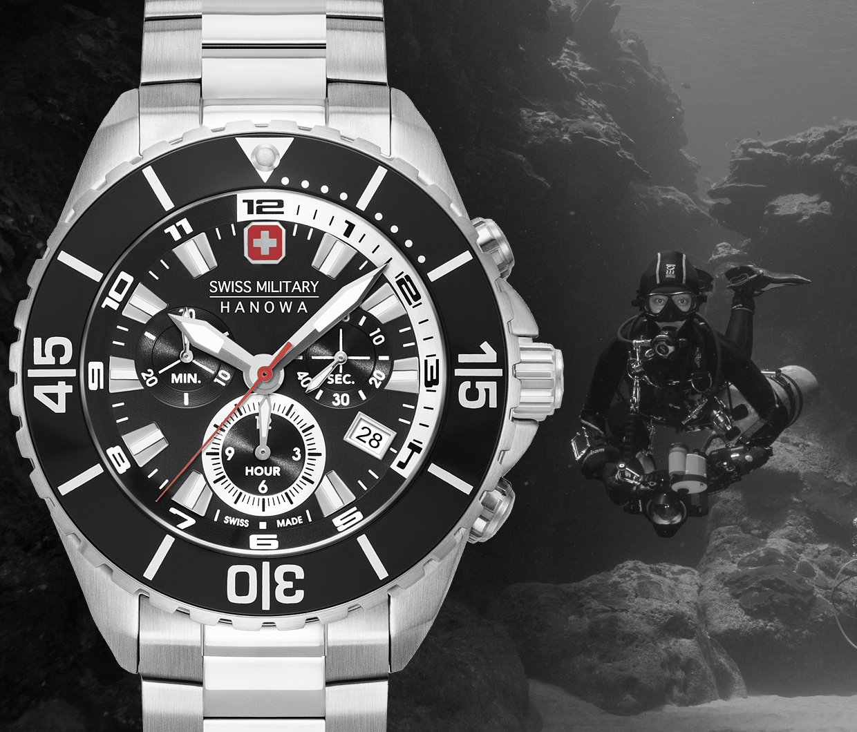 rodolphedesign Montre Swiss Military by hanowa edition Hans Noll plongeur