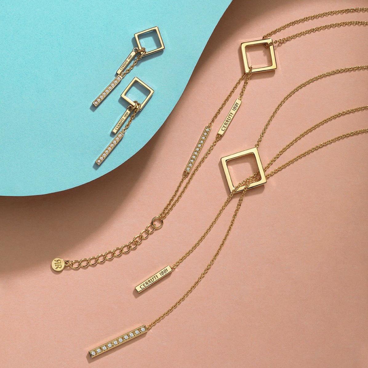 rodolphedesign bijoux cerruti 1881 doré à motif géométriques