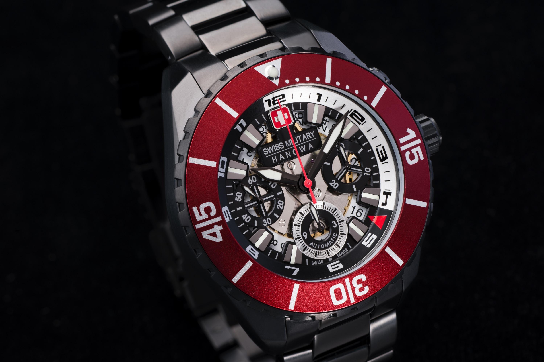 hans noll watch design red steel gent