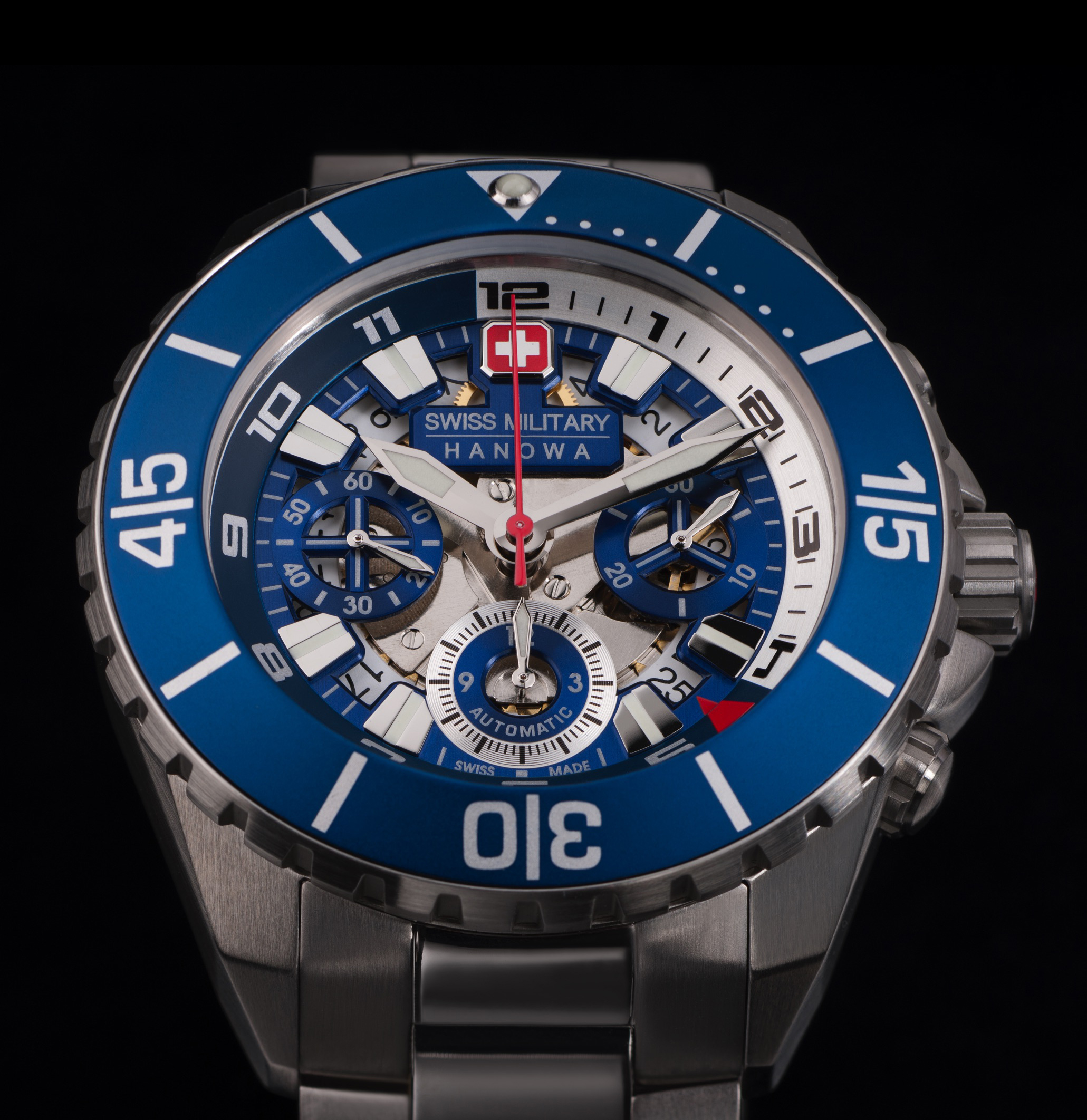 watch designer  rodolphe hans noll bleu steel