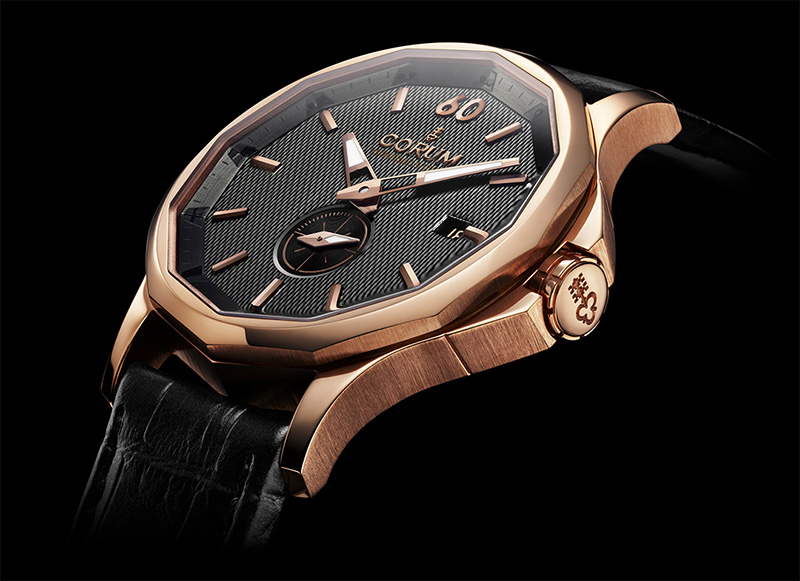 Admiral's Cup Legend rose gold with a black dial and leather strap