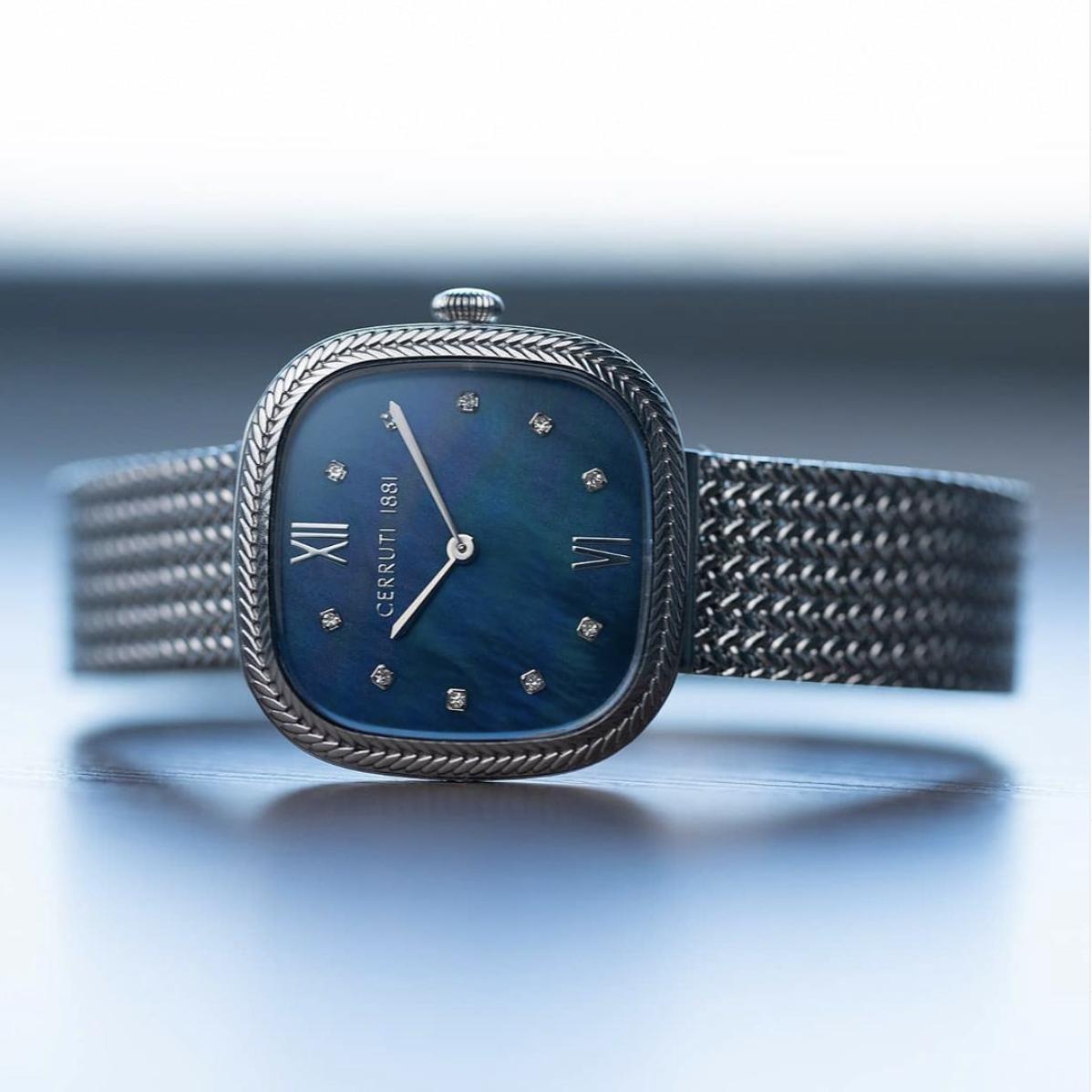 watch design rodolphedesign montre acier cadran bleu gent steel