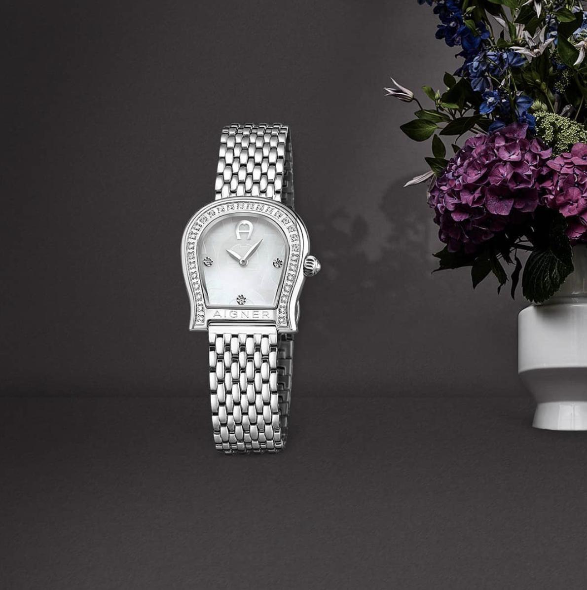 watch design aigner steel lady