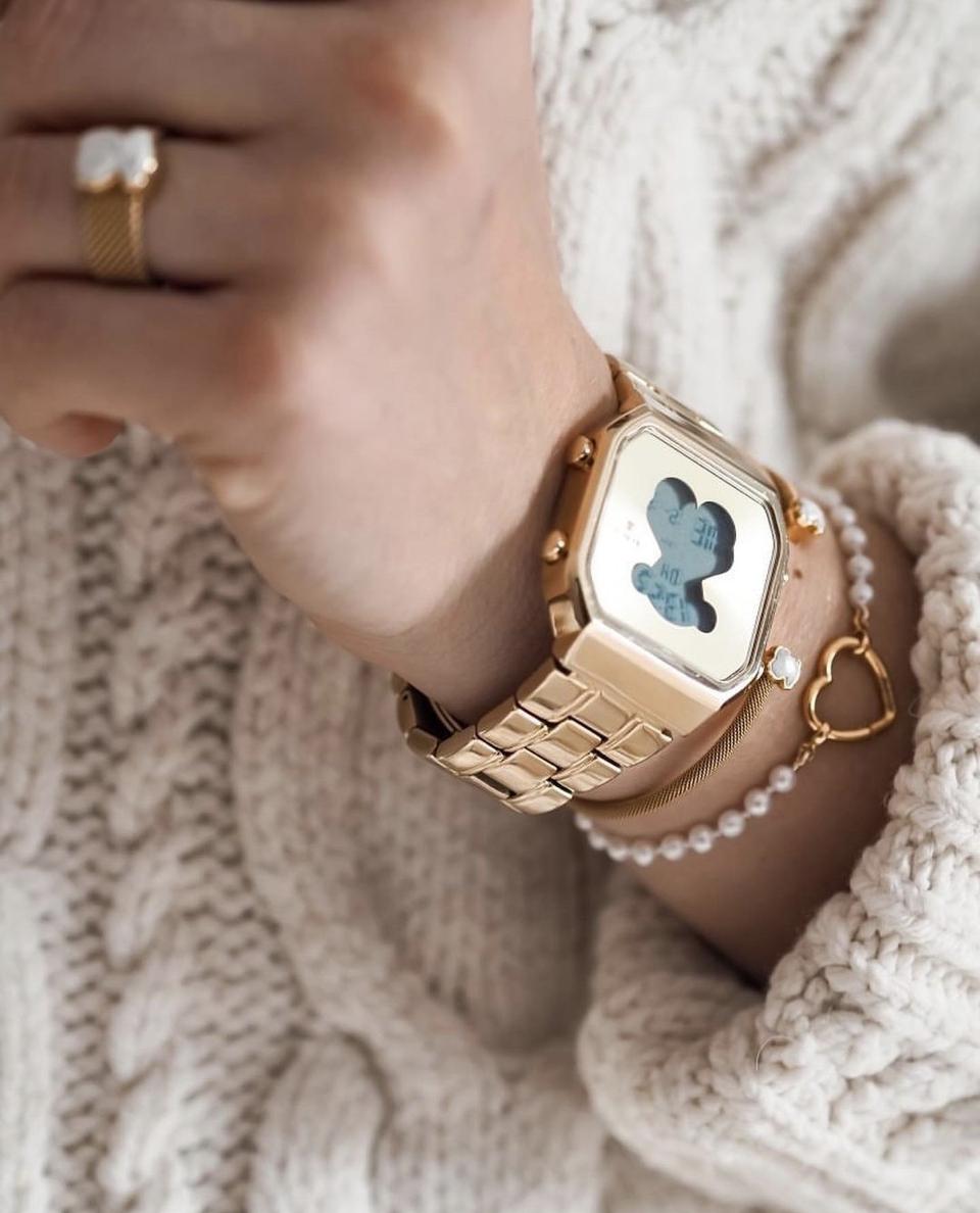watch design digital Tous lady gold