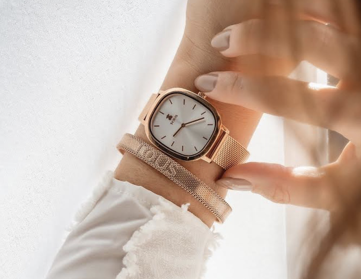 watch design lady gold square watch