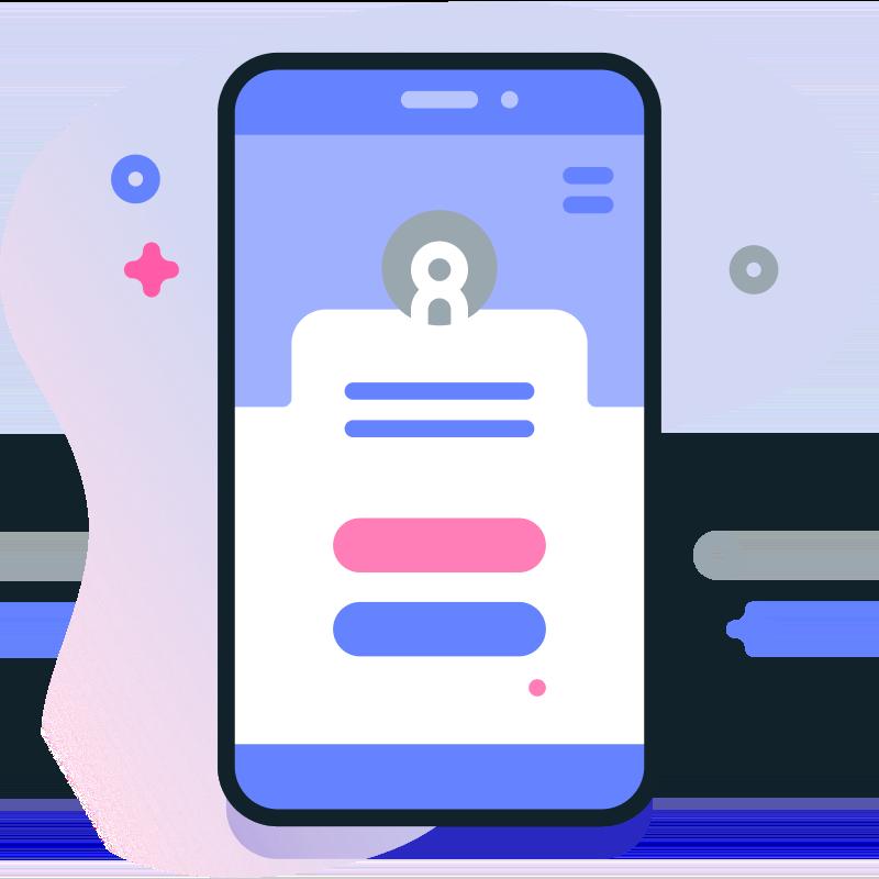 Icon representing UI design