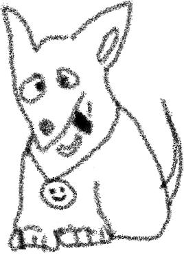 Талисман  модуля «Инфомационные ожидания» дизайн-задачника «Собаки Павловой»