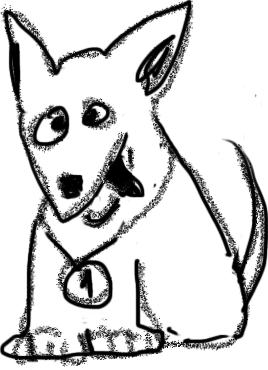 Собачка, талисман модуля «Информационные ожидания». Появится на вашем сертификате