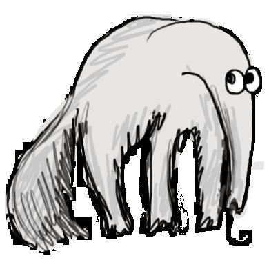 Муровьед, талисман  модуля Несекретные секреты текстов» дизайн-задачника «Собаки Павловой»