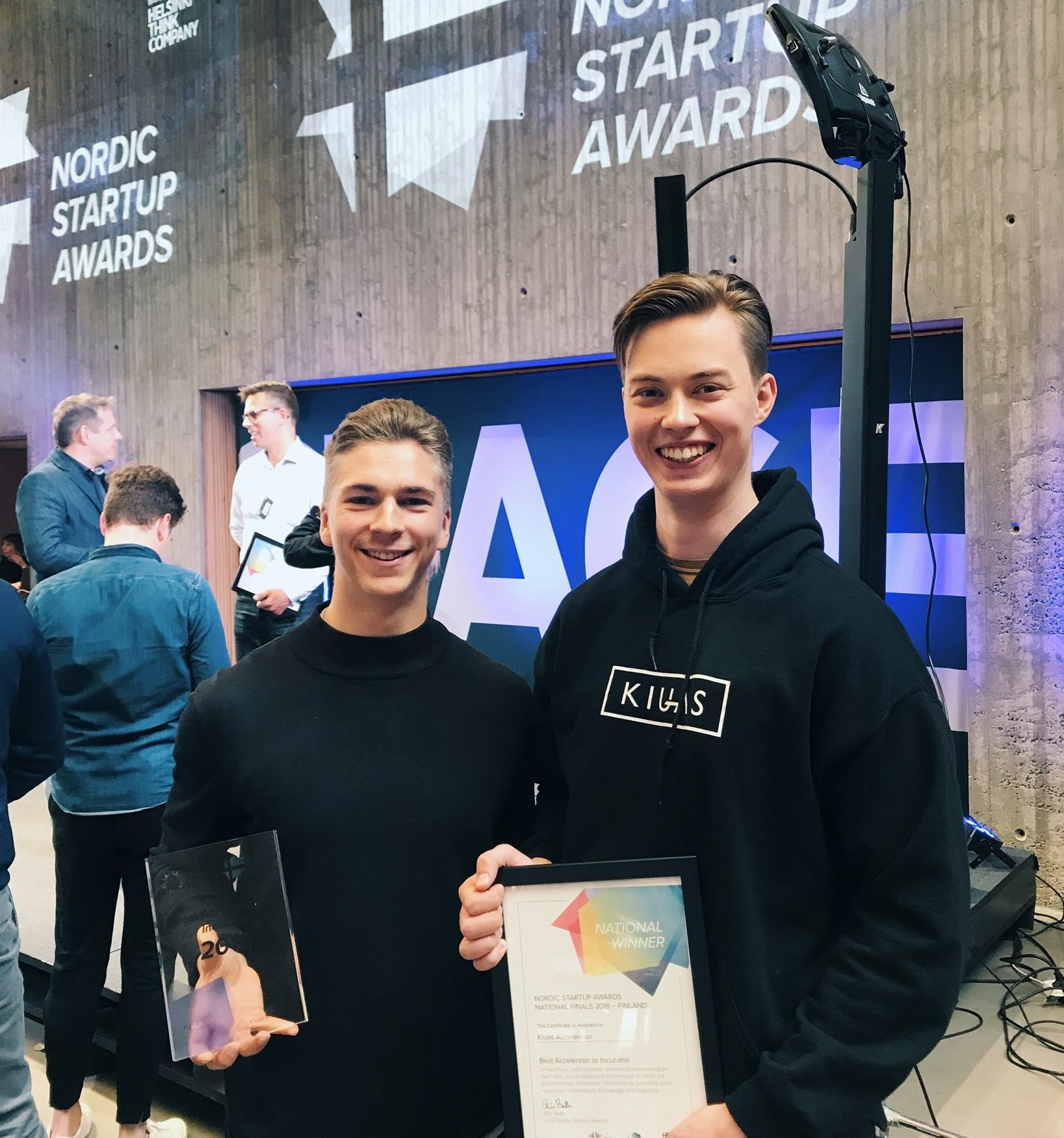 Kiuas Accelerator was awarded as the best accelerator program in Finland