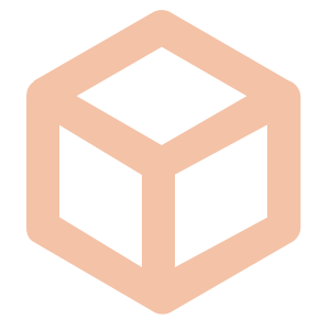 3D Visual Design Service Icon made of a three dimensional cube