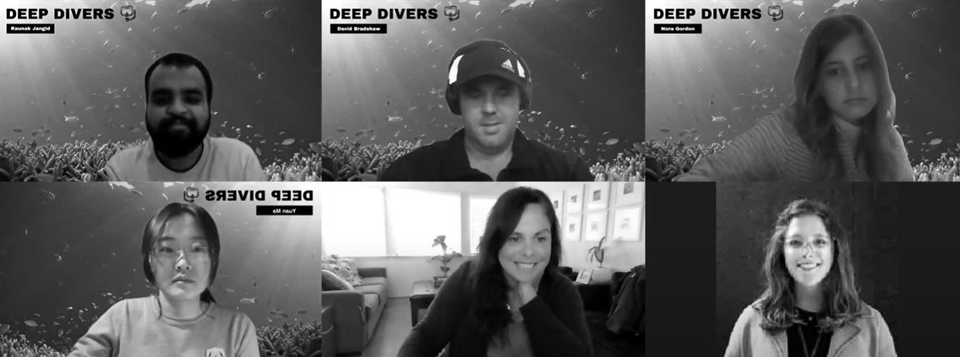 Zoom meeting with team members and clients for Monterey Bay Aquarium