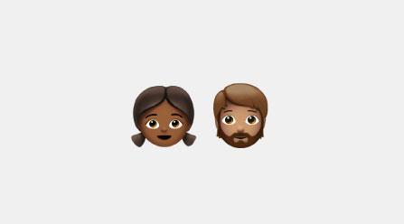 Emoji of a boy and girl together