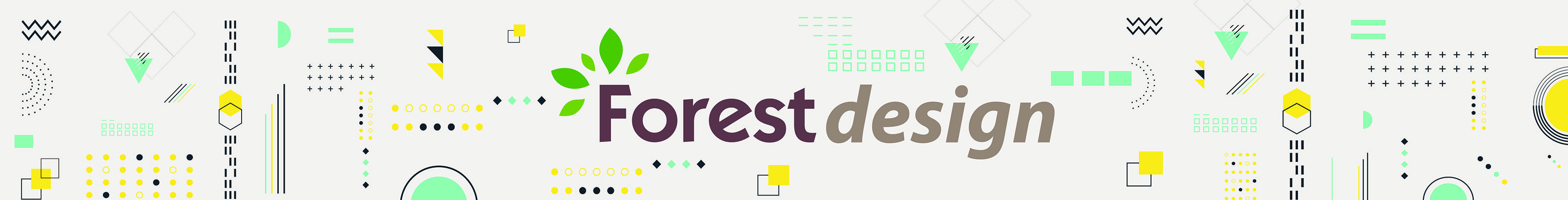 Forest Design logo on a graphic banner.