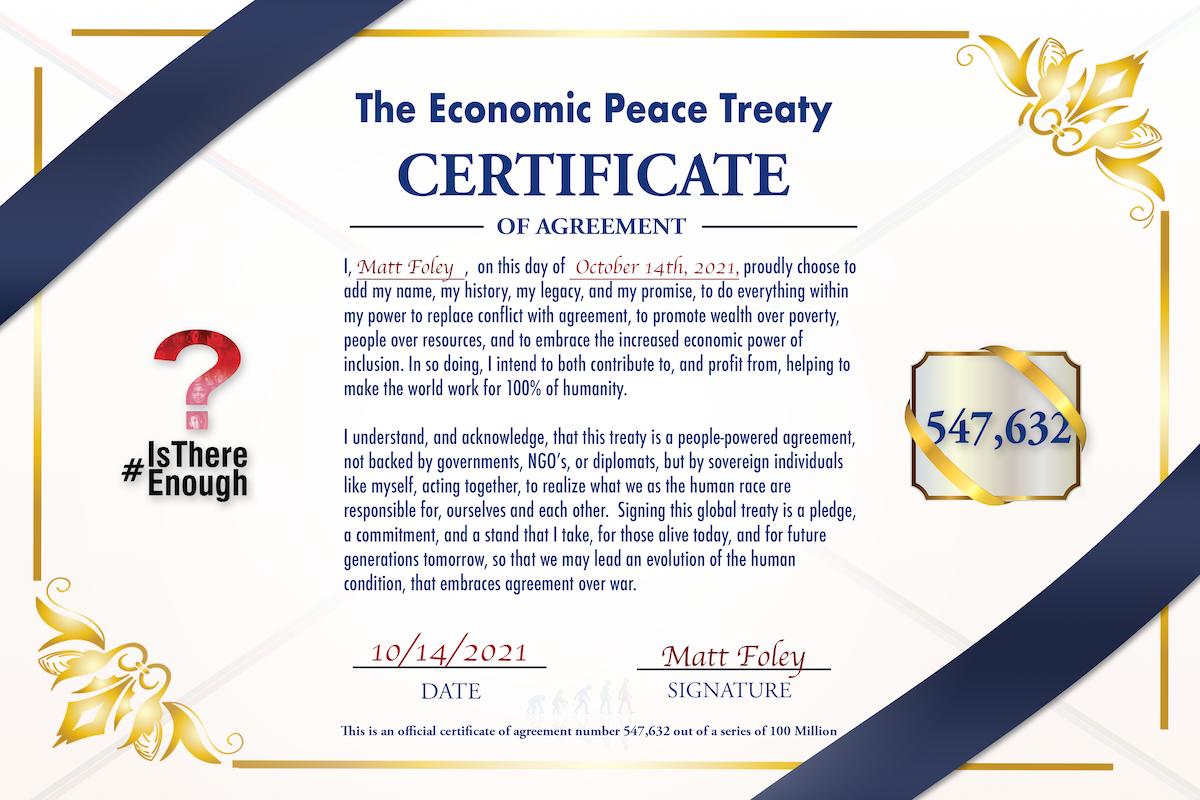The Economic Pease Treaty