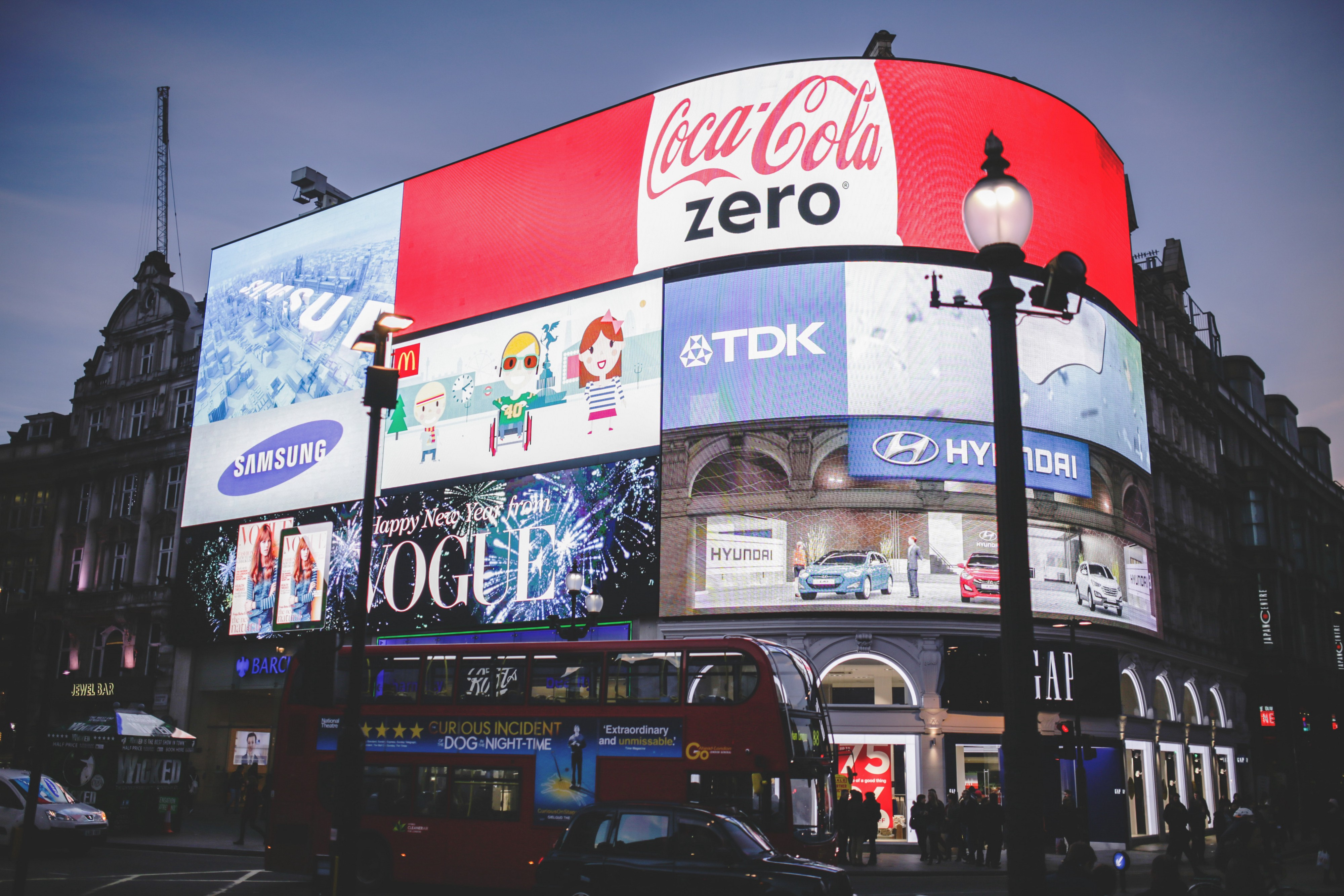 London Piccadilly Circus showing loads of Advertisement work.