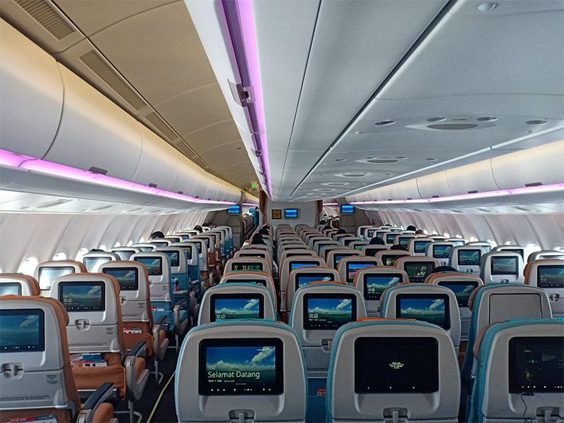 Désinfection es avions Airbus avec les produits LiquidGuard