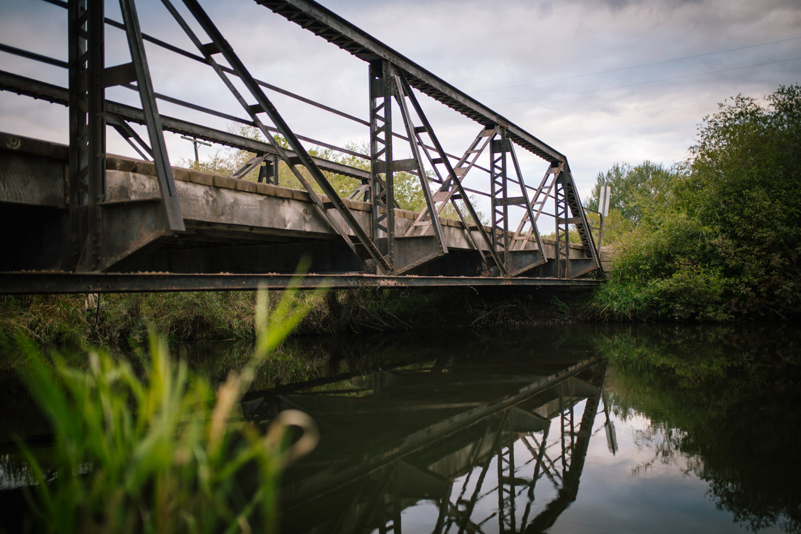 A picture of a bridge on the East Gallatin River in this Montana photography session.