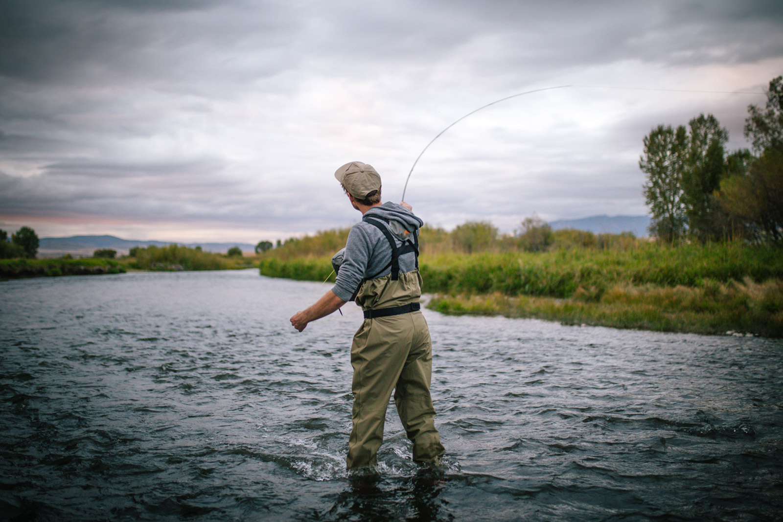 Patrick Burr casts a line in the East Gallatin River in this Montana photography session.